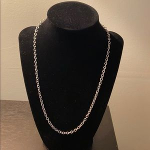 Simple Circle Link 925 Sterling Silver Necklace